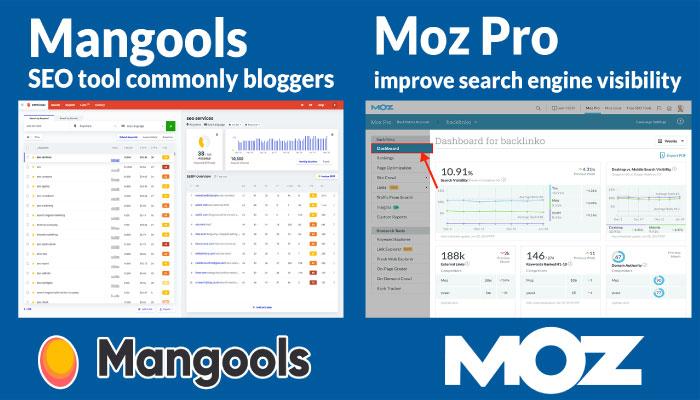 Mangools and Moz Pro