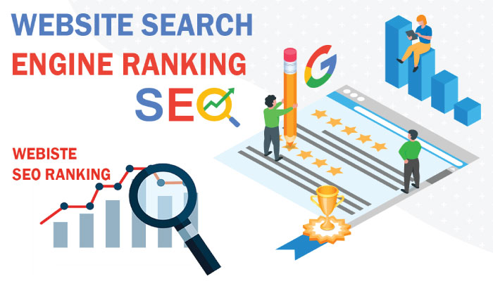 Website search engine ranking