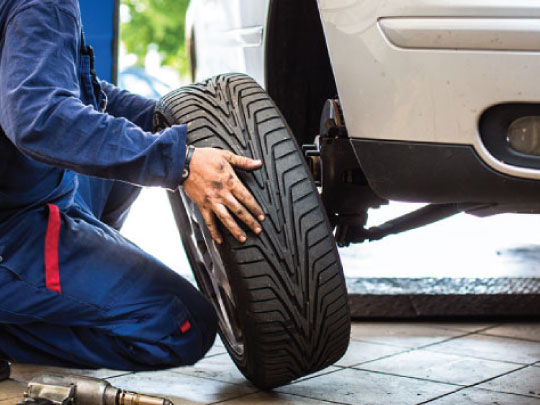 Tire Change at Home