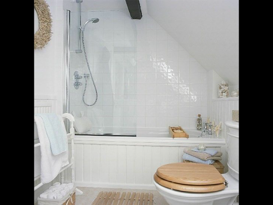 Remodel Small Bathroom with Sloped Ceiling