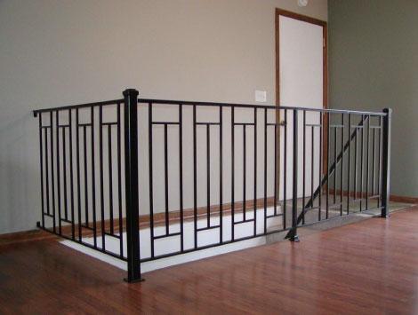 Iron Stair Railing Indoor in Brooklyn NY