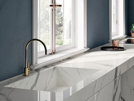 Porcelain Tile Kitchen Countertops